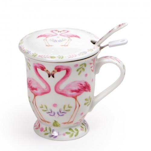 Xícara para Chá Flamingos