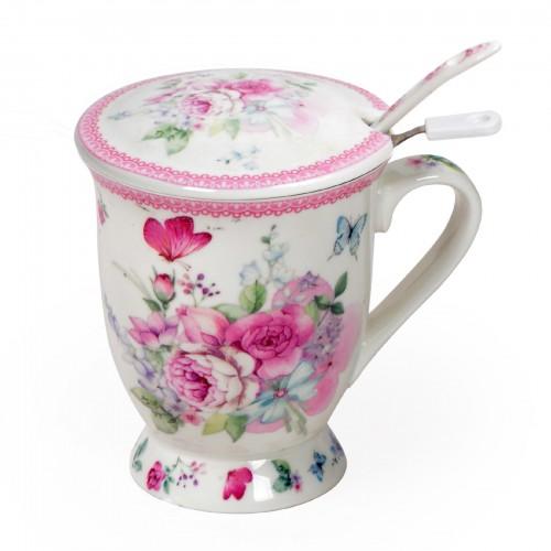Xícara para Chá Flowers