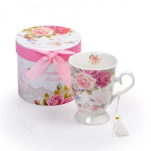 Xícara para Chá Rosas