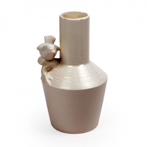 Vaso de cerâmica com Pássaro