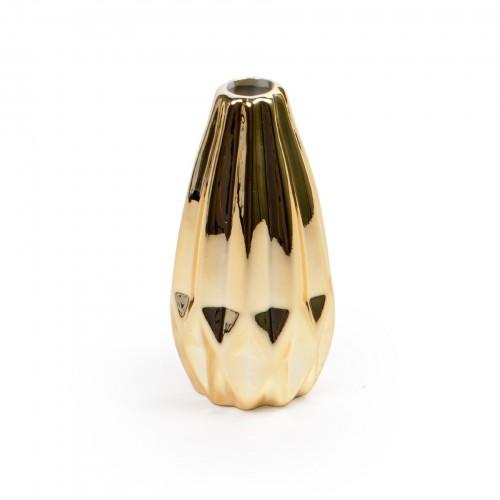 Mini vaso de cerâmica Dourado