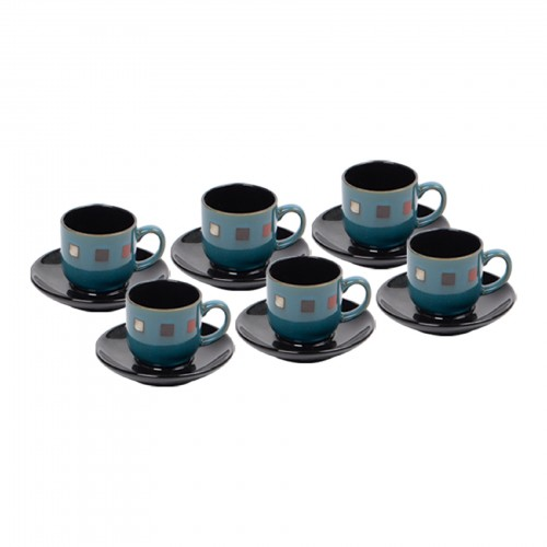 Jogo de xícaras de Chá Quadrados