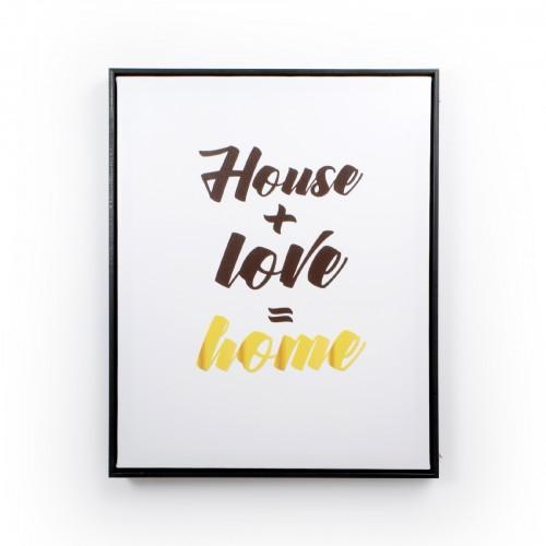 Quadro com moldura de madeira House