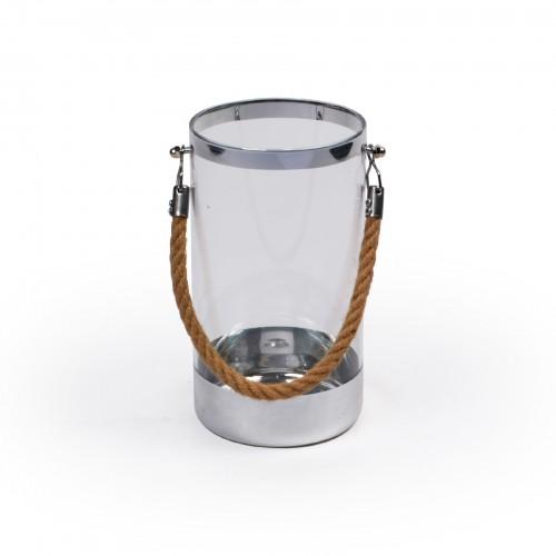 Lanterna de vidro Prata