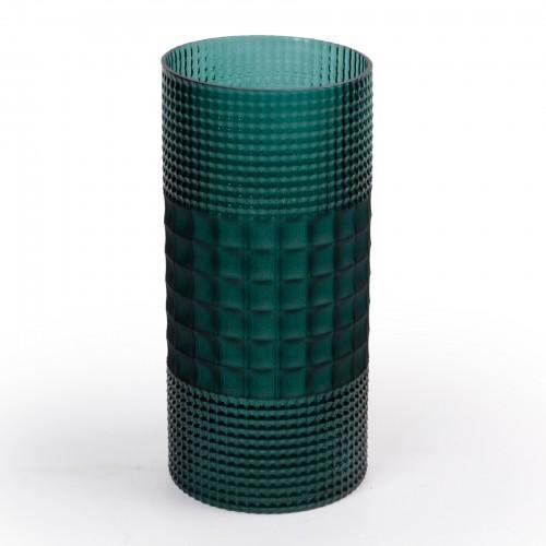 Vaso de Vidro Verde Redondo