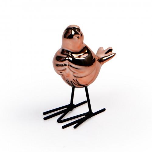 Escultura de pássaro Cobre