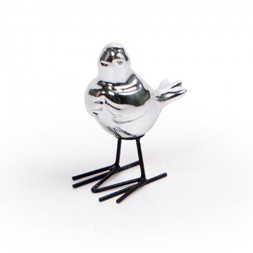 Escultura de pássaro Prata