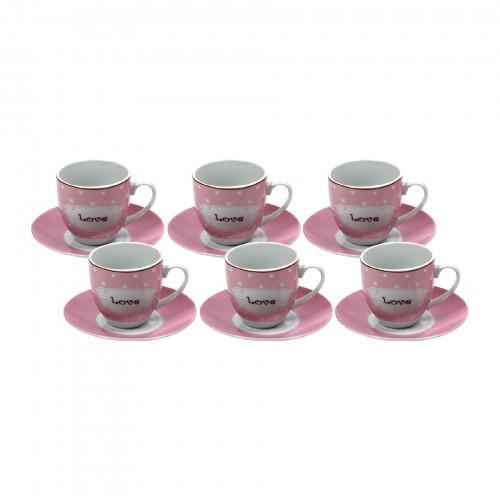 Jogo de xícaras de Chá Love Rosa
