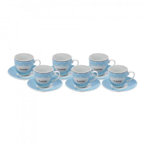 Jogo de xícaras de Chá Love Azul