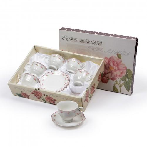 Jogo de xícaras de Chá Floral