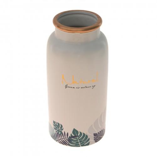 Vaso de cerâmica grande Branco