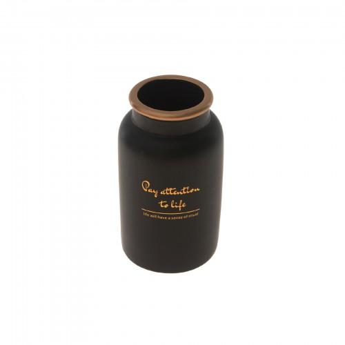 Vaso de cerâmica Preto