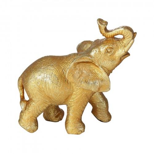 Escultura de Elefante Dourado