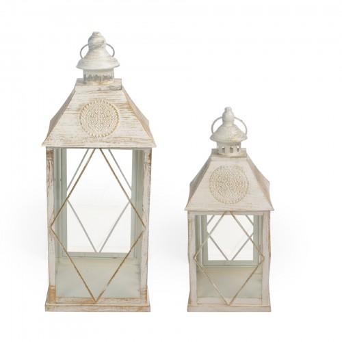 Conjunto de Lanternas de ferro decorativa