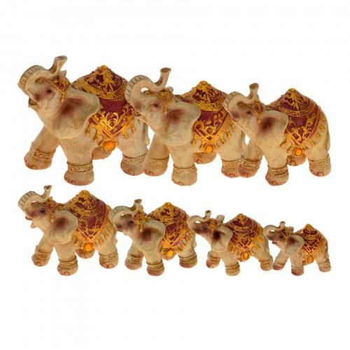 Conjunto com  07 esculturas Elefantes