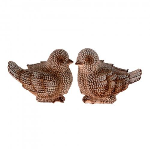 Conjunto com 02 esculturas Pássaros
