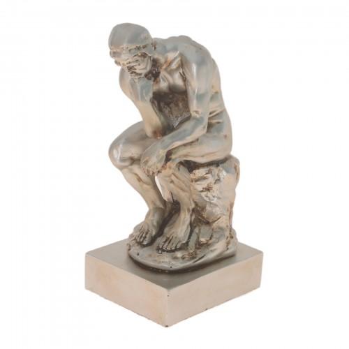 Escultura de cerâmica Prata Homem