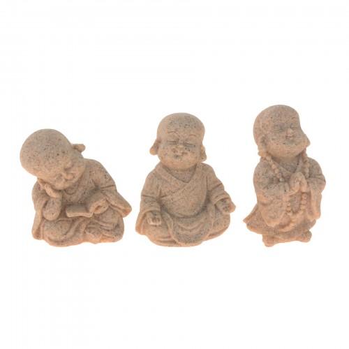 Conjunto com 03 esculturas de Buda