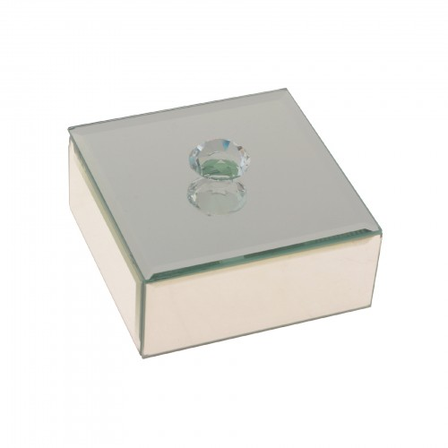 Caixa espelhada Quadrada Prata