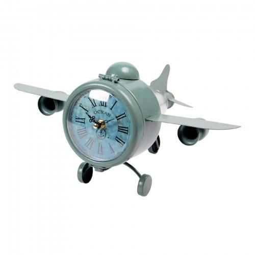 Miniatura de Avião decorativo com relógio