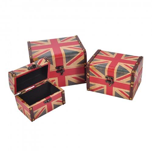 Conjunto de 03 maletas estampa Inglaterra