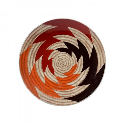 Bowl de Vidro Étnico Pequeno com suporte para parede