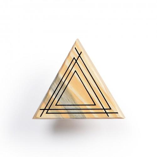 Cabideiro de madeira Triângulo