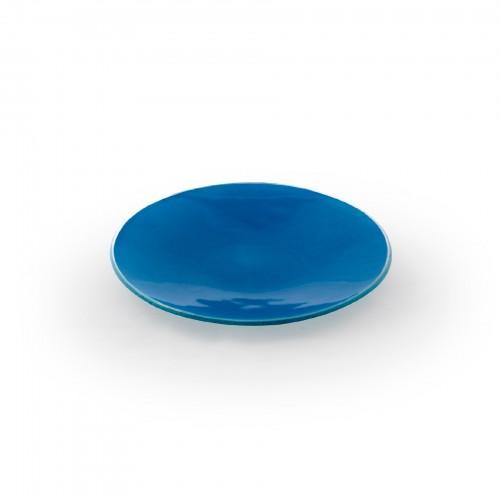 Conjunto 02 pratos de sobremesa Azul