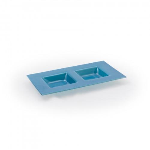 Petisqueira 02 divisórias Azul