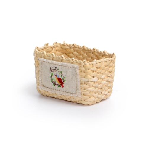 Porta azeite e condimentos de palha Natural