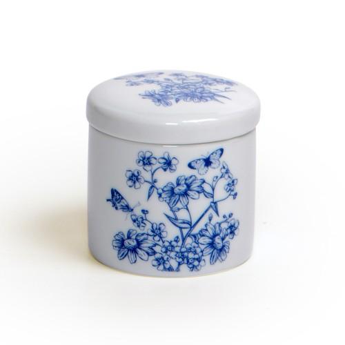 Potiche pequeno com tampa de Porcelana