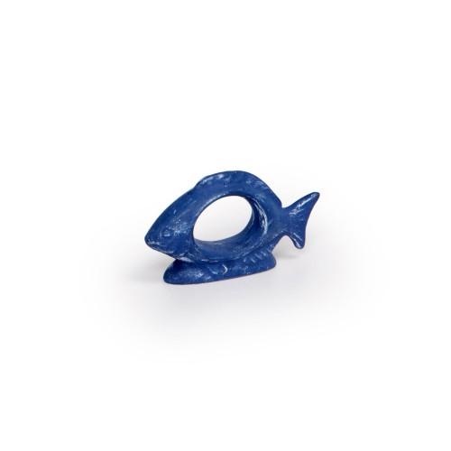 Anel de guardanapo Peixe Azul