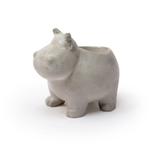 Vaso de concreto Hipopótamo