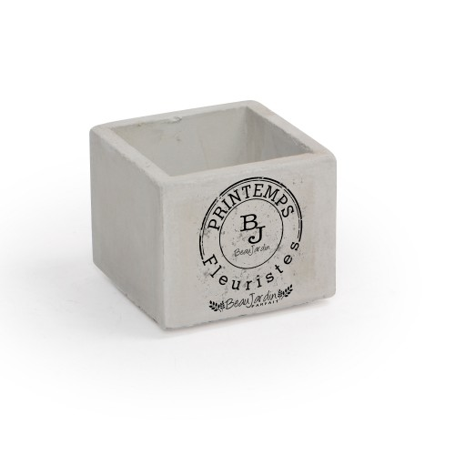 Vaso pequeno de concreto Carimbo