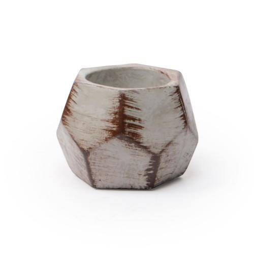 Vaso de concreto pequeno Diamante