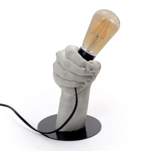 Luminária de Concreto Mão