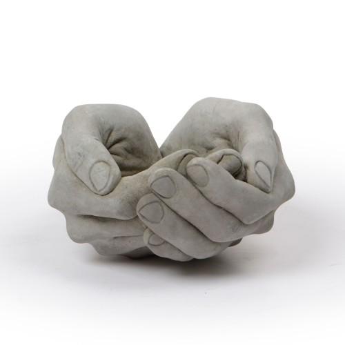 Vaso de concreto mão
