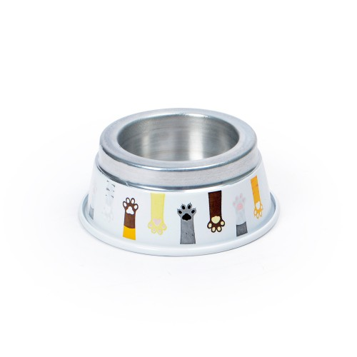 Comedouro de alumínio Pequeno para Gatos