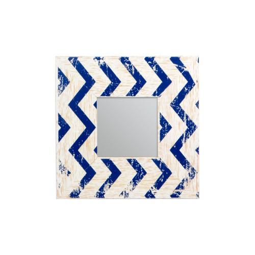 Espelho com moldura de Madeira Azul