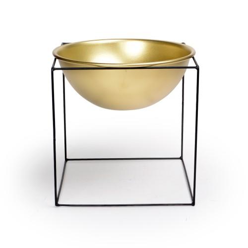 Vaso pequeno com suporte de Ferro Dourado