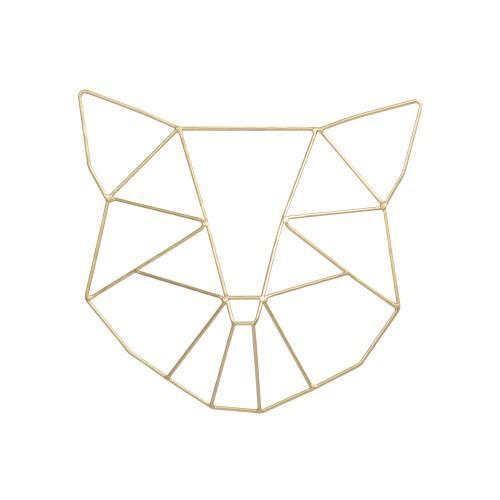 Escultura de parede Panda Dourada