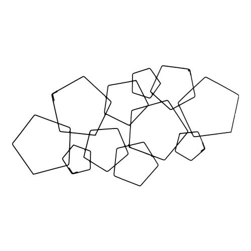 Mandala Pentagono Preta