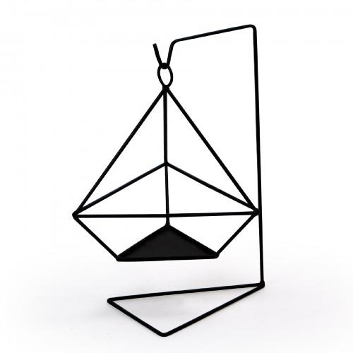 Vaso suspenso Triângulo Preto
