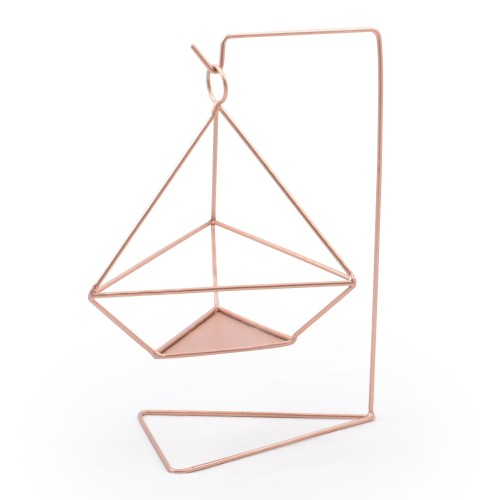 Vaso suspenso com base Triângular de ferro