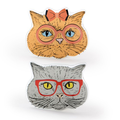 Conjunto com 02 mini pratos Cats