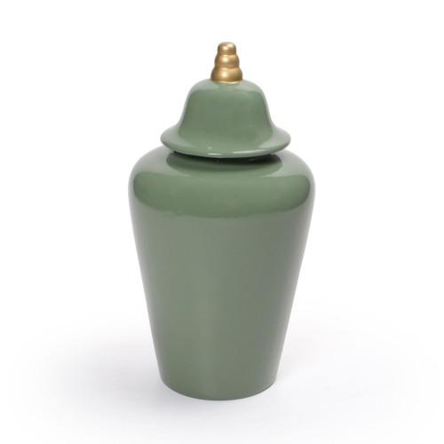 Vaso de cerâmica com tampa Pequeno