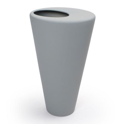 Vaso de cerâmica Cone Cinza