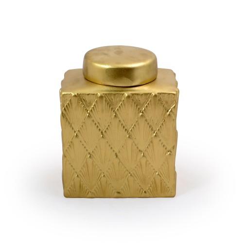 Vaso de cerâmica com tampa