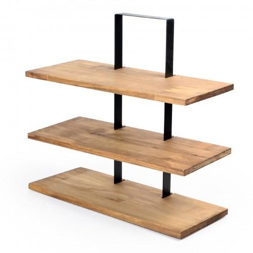 Suporte 3 andares de madeira