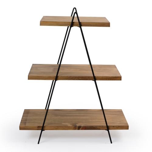 Suporte de madeira escada